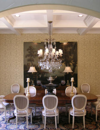 Interior design of dining areas by Terry Lowdermilk Interiors